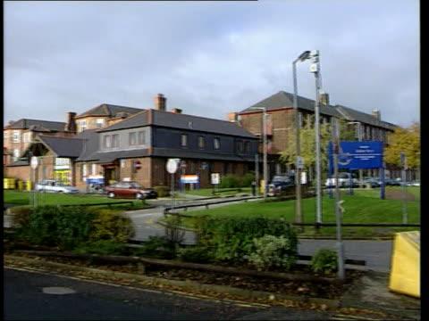 Childrens glands sold/organs removal eLTN ANNABEL LIB ENGLAND Liverpool EXT Sign outside Alder Hey hospital Ambulances parked outside hospital...