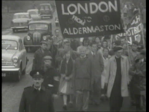 aldermaston to have private managers aldermaston to have private managers itn lib location unknown aldermaston marchers along - aldermaston stock videos & royalty-free footage