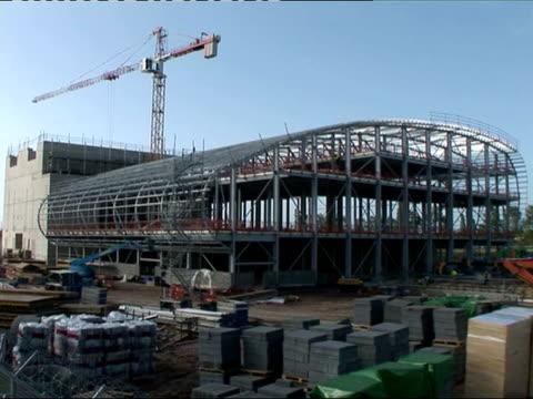 trident development ext construction work underway on new building at aldermaston - aldermaston stock videos & royalty-free footage