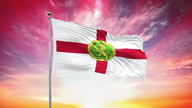 alderney flag, loopable, included green screen chroma key version, waving in wind slow motion animation, 4k realistic fabric texture, continuous seamless loop background - identity politics stock videos & royalty-free footage