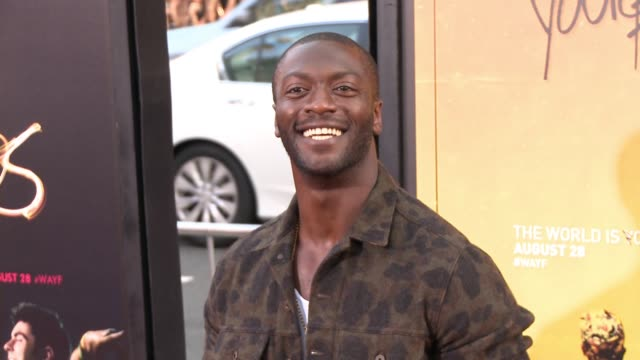 """aldis hodge at """"we are your friends"""" los angeles premiere at tcl chinese theatre on august 20, 2015 in hollywood, california. - tcl chinese theatre stock videos & royalty-free footage"""
