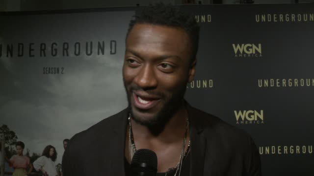 INTERVIEW Aldis Hodge on developing the show and the current political climate at WGN America And John Legend Celebrate Season Two Of The Hit Series...