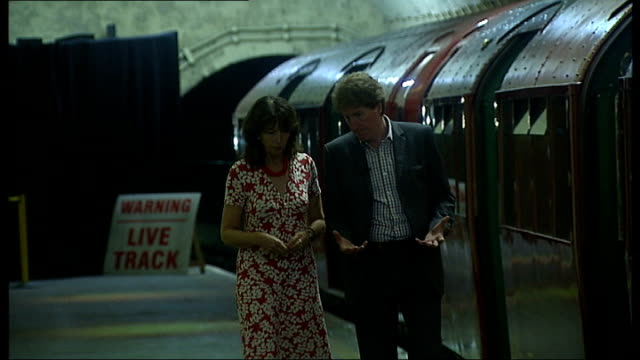 aldwych station opens for blitz tour sam mullins interview sot - aldwych stock videos and b-roll footage