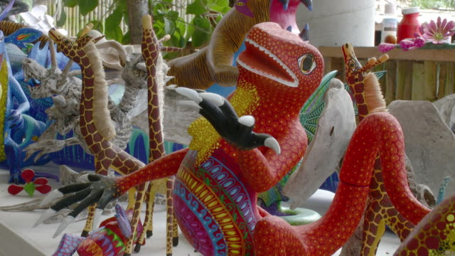 MS Alebrijes - brightly-colored Mexican folk art sculptures of fantastical creatures / Oaxaca, Mexico