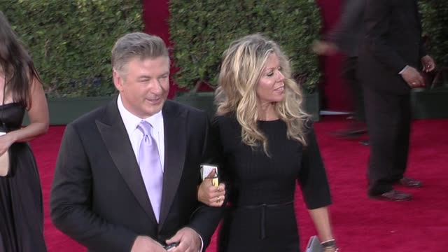 alec baldwin and guest at the 61st annual primetime emmy awards arrivals part 4 at los angeles ca - alec baldwin stock videos & royalty-free footage