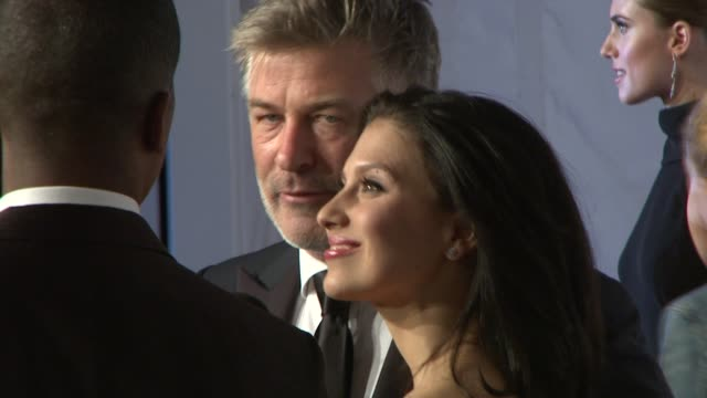 alec baldwin and hilaria baldwin at elton john aids foundation's 12th annual an enduring vision benefit on in new york ny - alec baldwin stock videos and b-roll footage