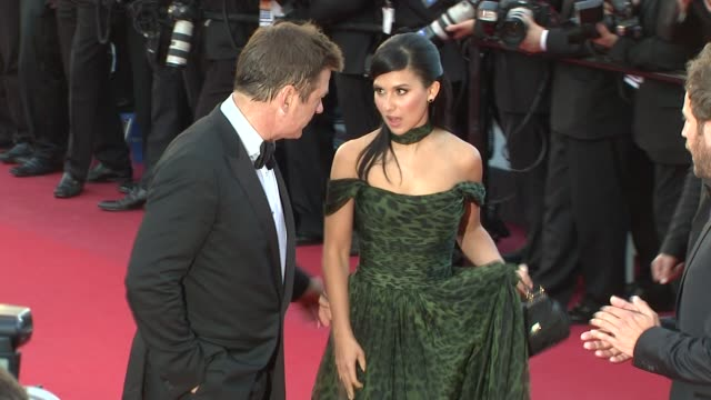 alec baldwin and hilaria thomas at killing them softly premiere 65th cannes film festival on may 22 2012 in cannes france - alec baldwin stock videos & royalty-free footage
