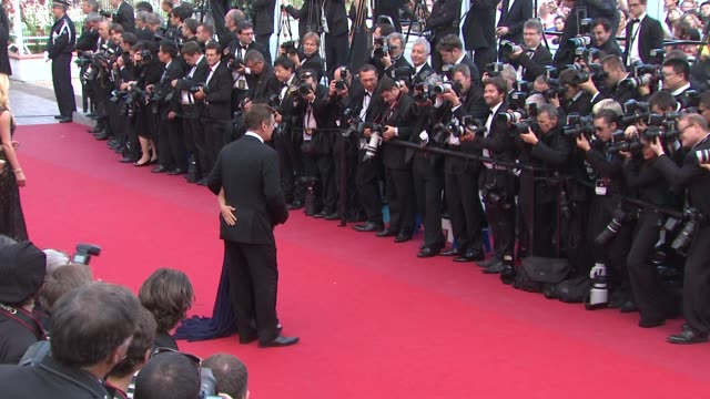 alec baldwin and hilaria thomas at mud premiere 65th cannes film festival at lumiere on may 26 2012 in cannes france - alec baldwin stock videos and b-roll footage
