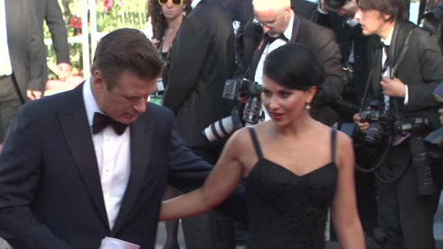 alec baldwin and hilaria thomas at the opening ceremony 65th cannes film festival on may 16 2012 in cannes france alec baldwin and hilaria thomas at... - alec baldwin stock videos and b-roll footage