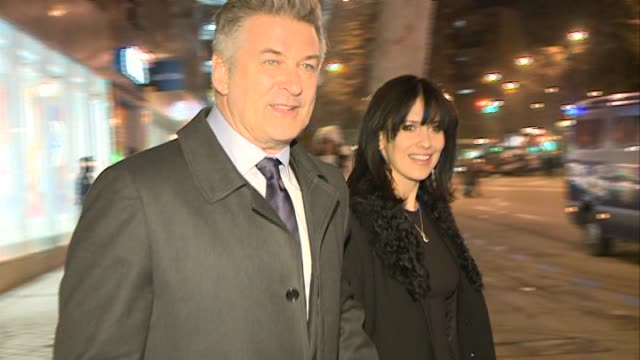 alec baldwin and his wife hilaria thomas visit the bernabeu alec baldwin and his wife hilaria thomas visit t on february 06 2014 in spain - alec baldwin stock videos and b-roll footage