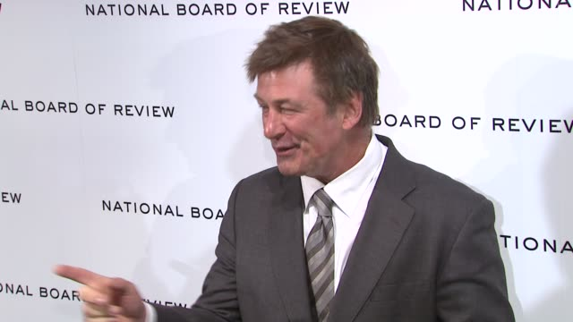 alec baldwin at national board of review awards gala red carpet at cipriani 42nd street on 1/10/2012 in new york city ny - alec baldwin stock videos and b-roll footage