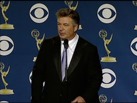 alec baldwin at the 61st annual primetime emmy awards - press room at los angeles ca. - annual primetime emmy awards stock-videos und b-roll-filmmaterial