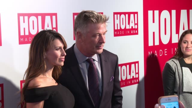 alec baldwin hilaria baldwin at ¡hola usa launch event at porcelanosa on september 29 2016 in new york city - alec baldwin stock videos & royalty-free footage