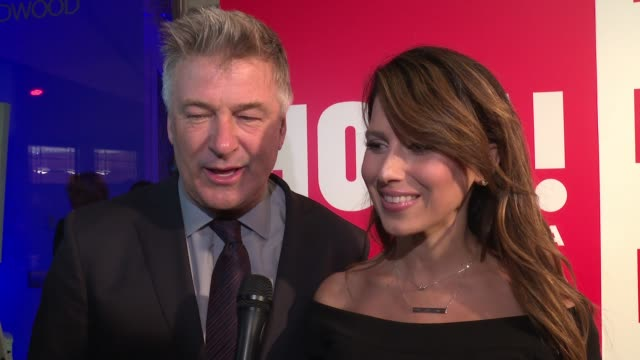 interview alec baldwin hilaria baldwin on their first night out in a while at ¡hola usa launch event at porcelanosa on september 29 2016 in new york... - alec baldwin stock videos & royalty-free footage