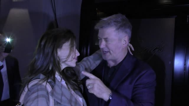 alec baldwin hilaria baldwin share a kiss after a dinner date at craig's in west hollywood in celebrity sightings in los angeles - alec baldwin stock videos & royalty-free footage
