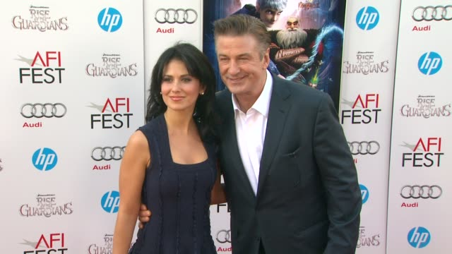 alec baldwin hilaria thomas at afi fest 2012 rise of the guardians gala screening on 11/4/2012 in hollywood ca - alec baldwin stock videos and b-roll footage