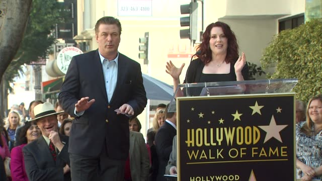 alec baldwin honored with a star on the hollywood walk of fame hollywood ca united states 2/14/11 - alec baldwin stock videos & royalty-free footage