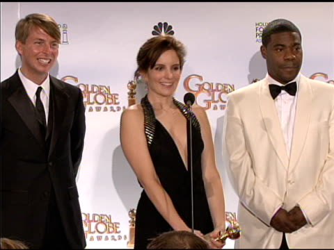 Alec Baldwin Jane Krakowski Jack McBrayer Tina Fey and Tracy Morgan at the 66th Annual Golden Globe Awards Press Room at Los Angeles CA