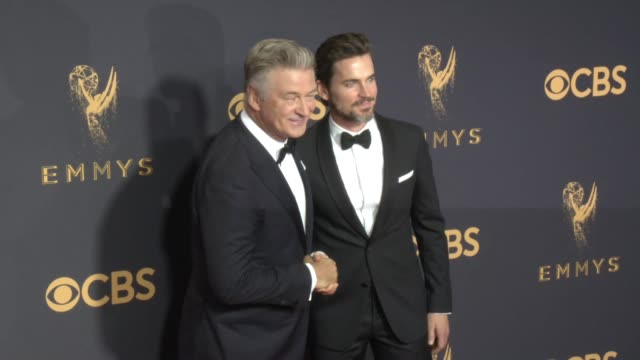 alec baldwin matt bomer at the 69th annual primetime emmy awards at microsoft theater on september 17 2017 in los angeles california - alec baldwin stock videos and b-roll footage