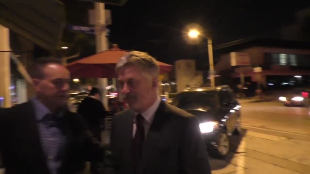 alec baldwin outside of craig's restaurant in west hollywood in celebrity sightings in los angeles - alec baldwin stock videos & royalty-free footage