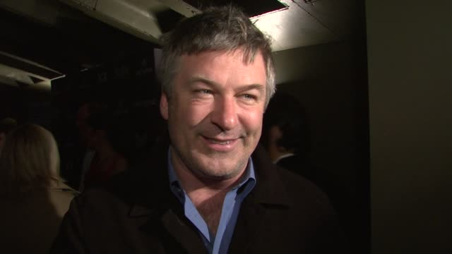 alec baldwin talking about the film being young and innocent again 30 rock and working on a film with meryl streep at the 14th annual gen art film... - alec baldwin stock videos & royalty-free footage