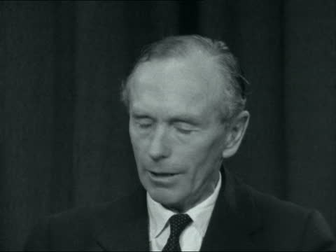alec douglas-home interview; england: int alec douglas-home interview sof. - on portugal involvement in angola and africa, colonialism and... - alec douglas home video stock e b–roll