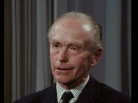 """alec douglas-home interview on russian explosion; england, london: lap: int alec douglas-home mp interview sof - """"i think every country will be... - alec douglas home video stock e b–roll"""