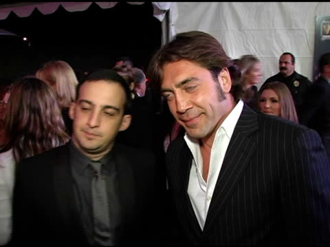 Alejandro Amenabar and Javier Bardem at the 2005 Palm Springs International Film Festival Gala at Palm Springs Convention Center in Palm Springs...