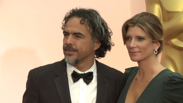 Alejandro G Inarritu and Maria Eladia Hagerman at 87th Annual Academy Awards Arrivals at Dolby Theatre on February 22 2015 in Hollywood California