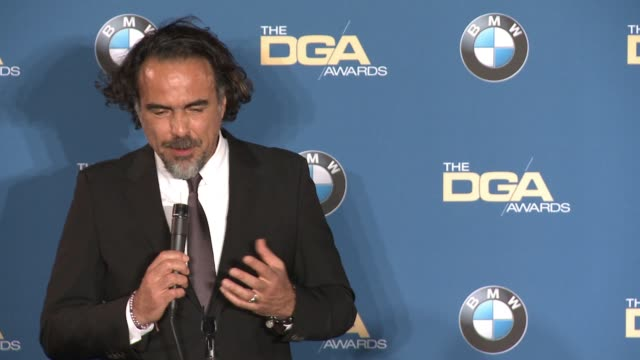 INTERVIEW Alejandro G Iñárritu at 68th Annual Directors Guild Of America Awards in Los Angeles CA