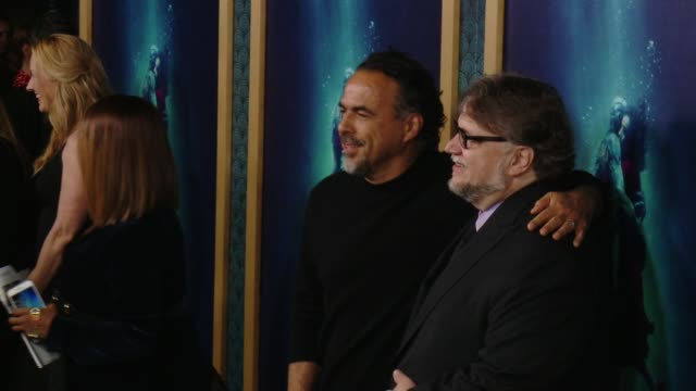 Alejandro Gonzalez Inarritu and Guillermo del Toro at 'The Shape Of Water' Los Angeles Premiere Presented By Fox Searchlight Pictures at the Academy...