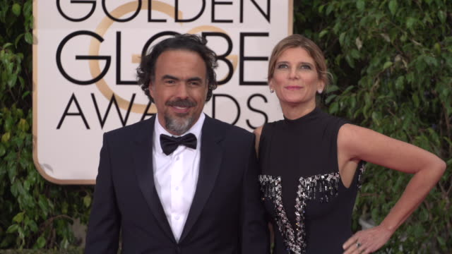 Alejandro Gonzalez Inarritu and Maria Eladia at 73rd Annual Golden Globe Awards Arrivals at The Beverly Hilton Hotel on January 10 2016 in Beverly...