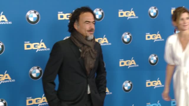 Alejandro Gonzalez Inarritu and Maria Eladia at the Hyatt Regency Century Plaza on February 07 2015 in Century City California