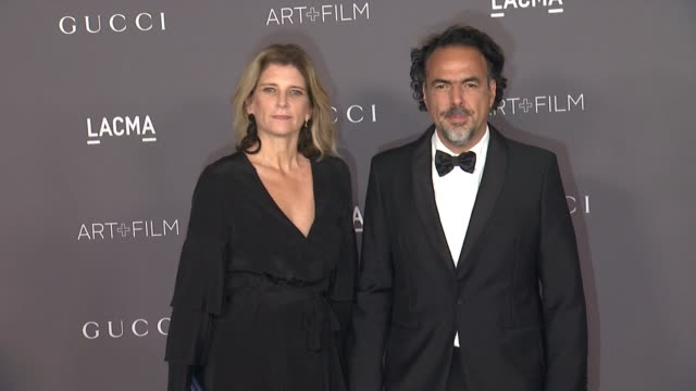 Alejandro Gonzalez Inarritu and Maria Eladia Hagerman at the 2017 LACMA Art Film Gala Honoring Mark Bradford And George Lucas And Presented By Gucci...