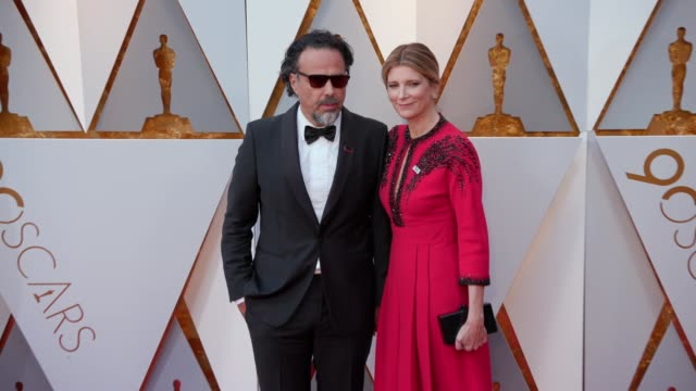 Alejandro Gonzalez Inarritu and Maria Eladia Hagerman at the 90th Academy Awards Arrivals at Dolby Theatre on March 04 2018 in Hollywood California