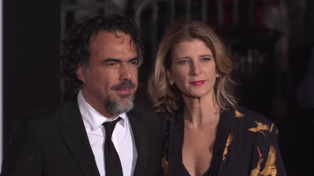 Alejandro Gonzalez Inarritu and Maria Eladia Hagerman at the 'The Revenant' Los Angeles Premiere at TCL Chinese Theatre on December 16 2015 in...