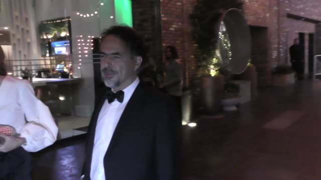 INTERVIEW Alejandro Gonzalez Inarritu on Leonardo DiCaprio outside Avenue in Hollywood at Celebrity Sightings in Los Angeles on November 11 2017 in...