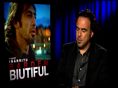 Alejandro Gonzalez Inarritu on the Golden Globe nomination at the 'Biutiful' Junket at Los Angeles CA
