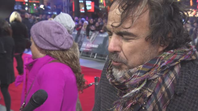 INTERVIEW Alejandro Gonzalez Inarritu on the themes of the film casting the film casting Leonardo DiCaprio 'The Revenant' UK film premiere on January...