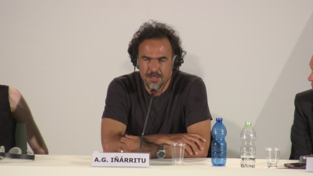 INTERVIEW Alejandro Gonzalez Inarritu on working with Michael Keaton at 'Birdman' Press Conference 71st Venice International Film Festival at Palazzo...