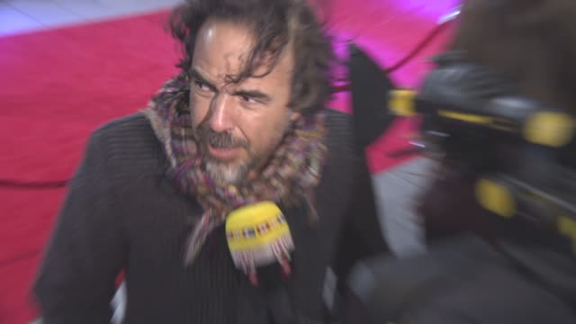 Alejandro Gonzalez Inarritu 'The Revenant' UK film premiere on January 14 2016 in London England