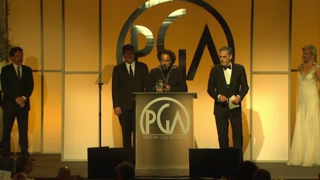 vidéos et rushes de alejandro gonzález iñárritu at 26th annual producers guild awards in los angeles, ca 1/24/15 - producer's guild of america awards