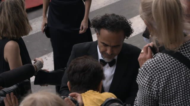 slomo alejandro gonzález iñárritu at 'the dead don't die' red carpet arrivals opening ceremony the 72nd cannes film festival on may 14 2019 in cannes... - the dead don't die 2019 film stock videos and b-roll footage