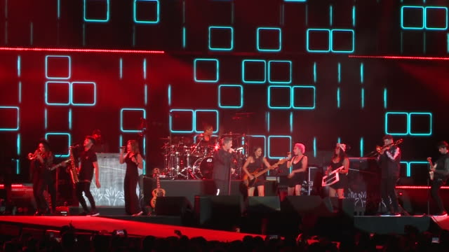 alejandro sanz concert in madrid for his el disco music tour - popular music tour stock videos and b-roll footage