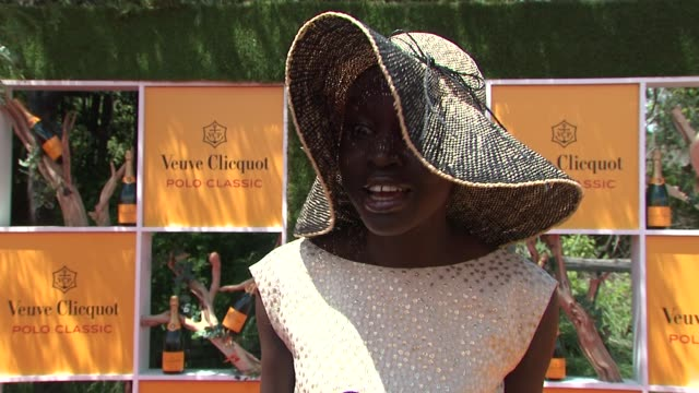 alek wek at the fifth annual veuve clicquot polo classic at liberty state park on june 02 2012 in jersey city new jersey - 動物を使うスポーツ点の映像素材/bロール