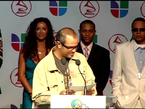 aleks syntek announces latin grammy nominees at the 2005 latin grammy awards nominations at the music box theater in hollywood, california on august... - latin grammy awards stock videos & royalty-free footage