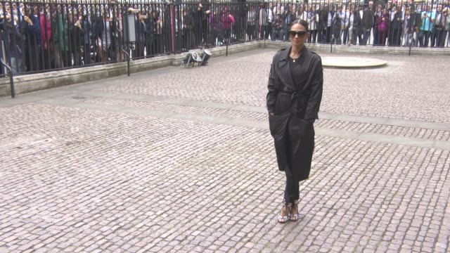 alesha dixon at a service of thanksgiving for the life and work of sir terry wogan at westminster abbey on september 27, 2016 in london, england. - terry wogan stock-videos und b-roll-filmmaterial
