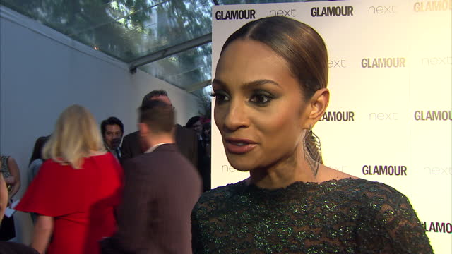 alesha dixon, singer on end of current series of britain's got talent. the glamour awards took place on june 02, 2015 in london, england. - britain's got talent stock-videos und b-roll-filmmaterial