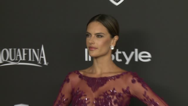 Alessandra Ambrosio at 16th Annual InStyle And Warner Bros Golden Globe AfterParty on January 11 2015 in Beverly Hills California