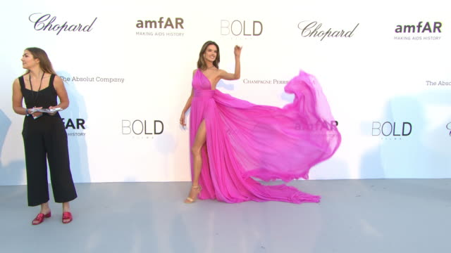 alessandra ambrosio at amfar gala cannes 2018 on may 17 2018 in cap d'antibes france - gala stock videos & royalty-free footage
